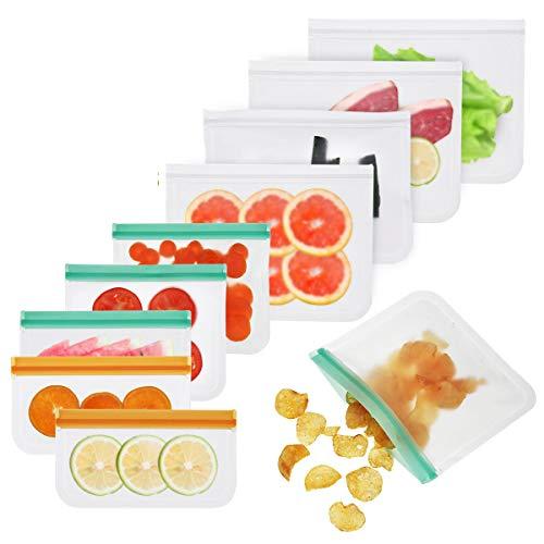 WZRY Casa 3 tamaños Cocina Comida Reutilizable Bolsa de almacenamientoSentalStorage Contenedor Fruta Fresca Bolsa de preservación 10pcs / Set