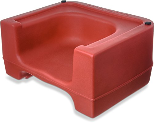 Sale!! Carlisle 711005 Polyethylene Extra Strong Booster Seat, 8 x 12.5 x 15.5, Red (Case of 4)