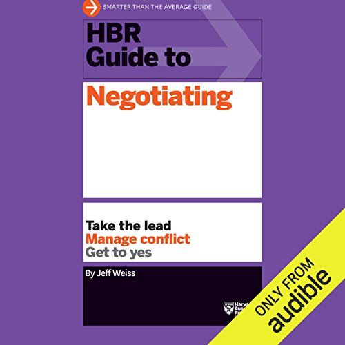 HBR Guide to Negotiating Titelbild