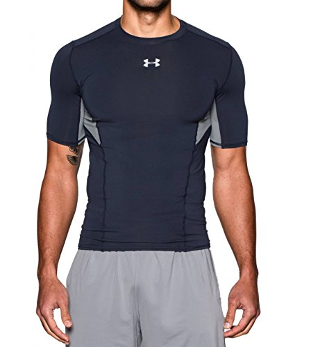 Under Armour Herren Ua Hg CoolSwitch Comp Ss T-Shirt, Herren, Kurzärmeliges T-Shirt, Marineblau, M