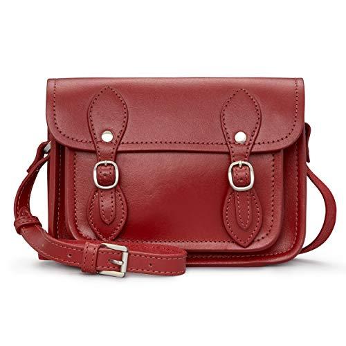 Tilney Satchel Leather Cross Body Bag/Handbag for Women (Red)