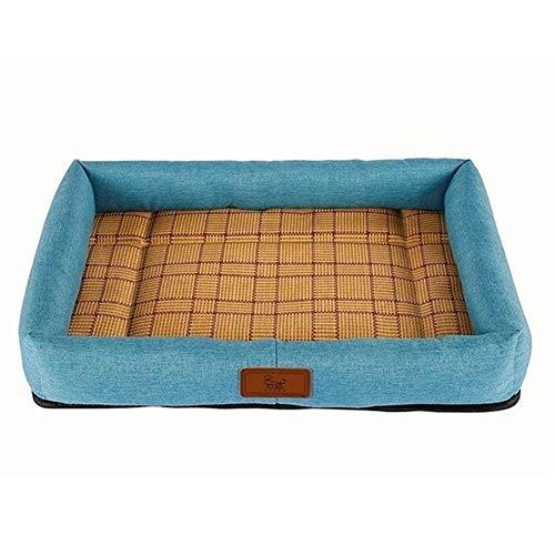 mdtep Cama para mascotas de verano para perros, cómoda y duradera, lavable (color: F, tamaño: S)