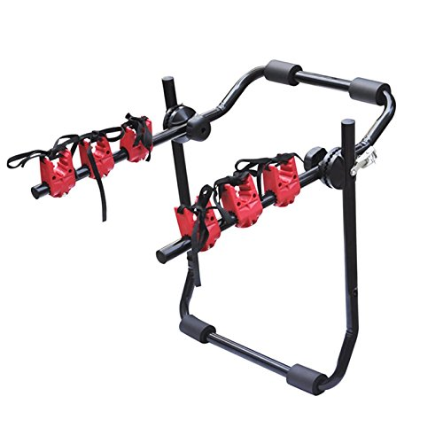 WOLTU Fahrradträger Heckklappe Rack Fahrradhalter Hinten 3 Räder FZ1121+EZT-1121