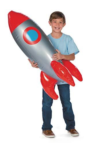 cama24com Rakete aufblasbar Weltraum Space Raumschiff 100cm groß Partydekoration mit Palandi® Sticker