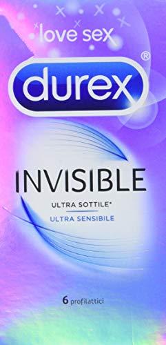 Durex Ultradünne Kondome mit hoher Empfindlichkeit, 6 Kondome
