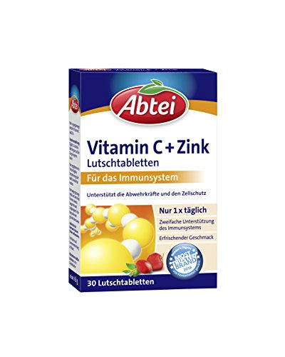 Abtei Vitamin C plus Zink, 1er Pack (1 x 30 Tabletten)