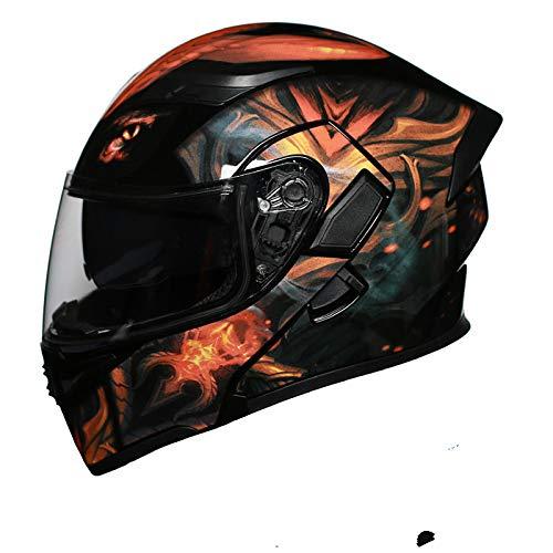 Visier Motorradhelm Sicherheit Racing Moto Helm Leichtgewicht Für Motorrad Cruiser Scooter Bike Full Face Washable Liner