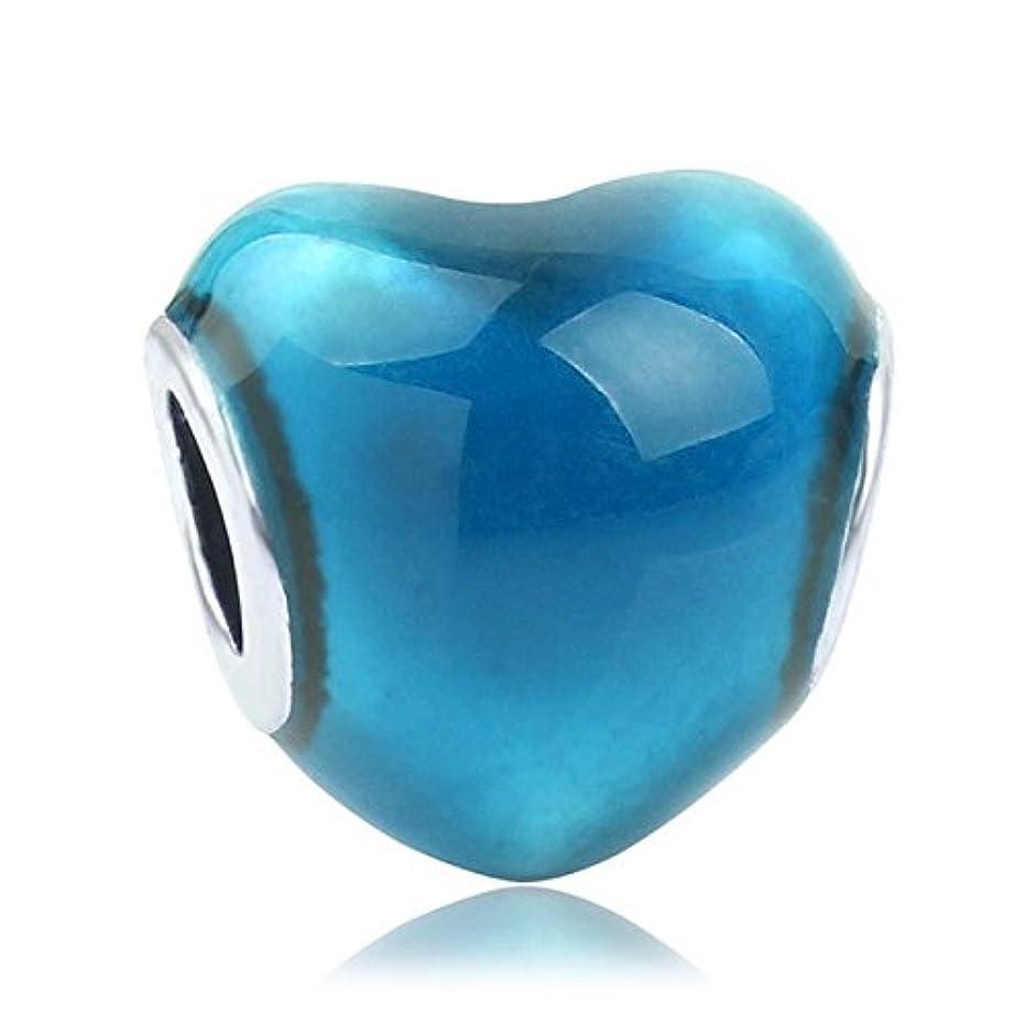 J&M Heart Charm Bead for Bracelets (Blue)