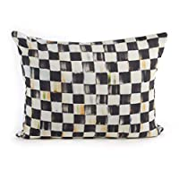 MacKenzie-Childs Courtly Check Boudoir Pillow, Decorative Throw Pillow for Bedroom or Living Room