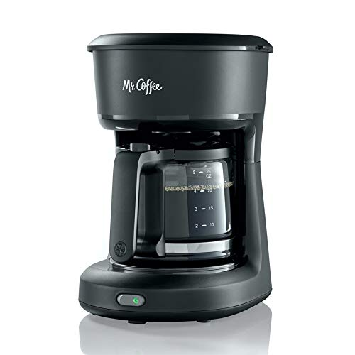 Mr. Coffee 2129512, 5-Cup Mini Brew Switch Coffee Maker, Black