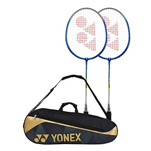 YONEX GR201COMBO Aluminum GR201 Racquet with Sunr 1845 Black Gold Kit Bag