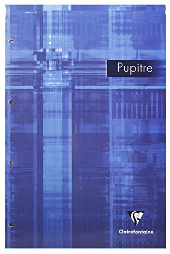 Clairefontaine 6139C - Lote de 5 Blocs de notas PUPITRE® grapados y perforados A4 MAXI cuadriculado 5x5 con margen de 160 páginas, colores surtidos