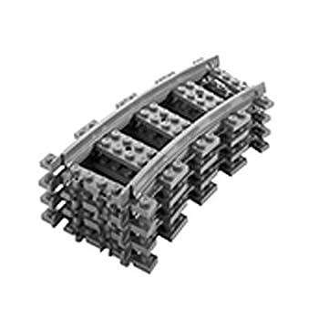 LEGO 4 x Curve RC Train Track Pieces 7499 8867 7938 7939 60051 60052 City LEGO