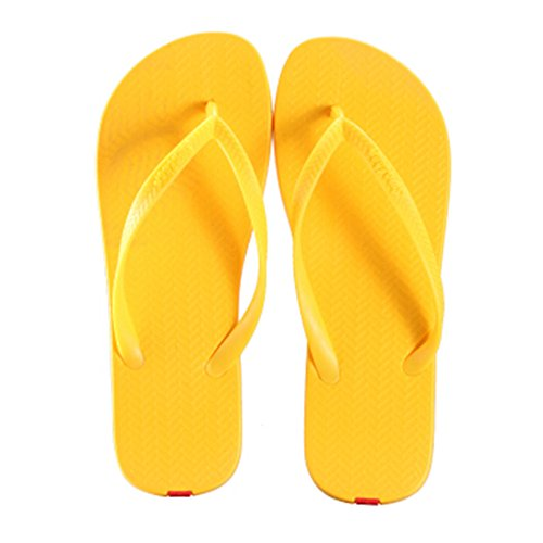 Casual Tongs Unisexe Plage Chaussons Anti-Slip Maison Slipper Jaune