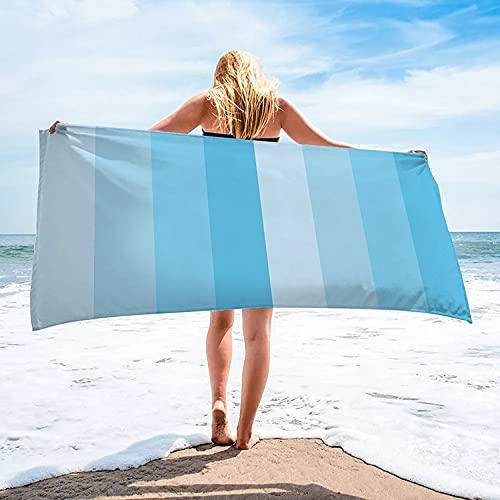 Ruimcc Telo da mare in microfibra antisabbia 70x140 cm, coperta da viaggio leggera super assorbente, telo da piscina portatile pieghevole ad asciugatura rapida, coperta da spiaggia (blu)