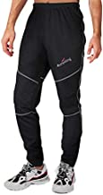 4ucycling Mens Fleeced Windstopper Cycling Pants for Casual Outdoor and Multi Sports (Black, XL)
