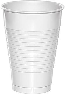 Creative Converting Premium Plastic Cups 20-Pieces, 12 oz Capacity, White
