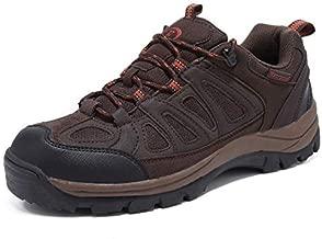 EYUSHIJIA Mens Hiking Boots Waterproof Outdoor Non-Slip Sneakers Low Top Trailing Trekking Walking Shoes(10, Brown-01)
