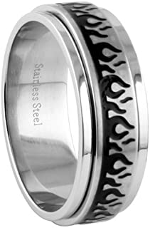 JewelryVolt Stainless Steel Ring Tribal Flames