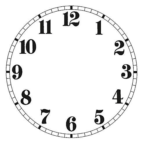 SELVA Esfera blanca para reloj de pared autoadhesiva, números árabes, diámetro exterior: 84 – 140 mm, material: lámina de PVC (140).