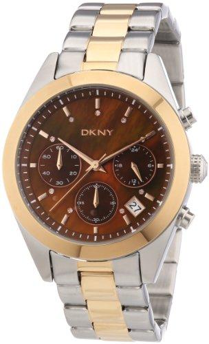 DKNY Damen-Armbanduhr Chronograph Quarz Edelstahl beschichtet NY8515