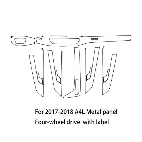 TPU-beschermfolie, plakfolie, krasbestendig, voor auto-interieurfolie, autofolie voor 2017-2018, A4L metalen bord
