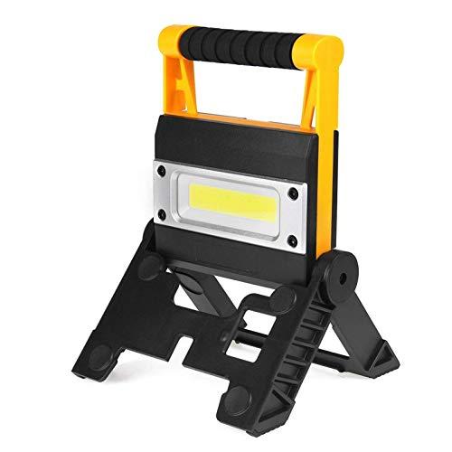 Lámpara de Trabajo Lámpara de Trabajo LED LED LED Portátil Linterna Impermeable 4Mode Emergencia Portátil Portátil Foco Recargable para la luz de Acampar (Color emisor: s) nyfcck