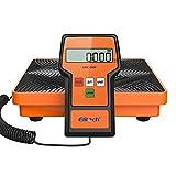 Elitech Báscula Electrónica Refrigerante 50KG de medición más Pesada para HVAC, Escala de Recuperación de Peso de Carga Electrónica de Refrigerante Inalámbrico LMC-100F