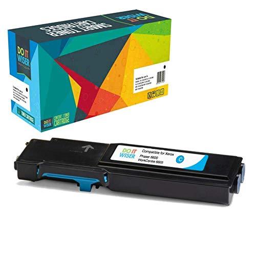 Cartuccia toner Do it wiser compatibile in sostituzione di Xerox WorkCentre 6600, Xerox Phaser 6605, WorkCentre 6605dn, WorkCentre 6605n, Phaser 6600n, Phaser 6600dn 106R02229 (Ciano)