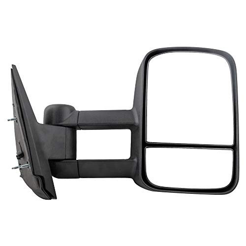 BOXI Right Passenger Side Manual Telescopic Towing Mirror Compatible with 2007-2013 Chevy Silverado Sierra Pickup Truck Passenger Side -Manual, Non-Heated, Non-Folding GM1321337 20862095