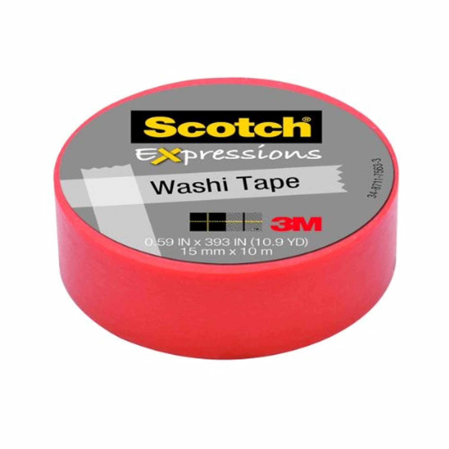 Scotch Expressions Washi Tape, .59-Inches x 393-Inches, Pastel Pink, 6 Rolls/Pack