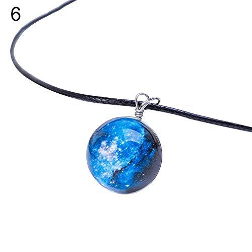 Collar encantador de joyería para mujer y unisex con diseño de estrella de cristal de ensueño, diseño de galaxia, el mejor regalo para ella, color: 4# (color: 6#)