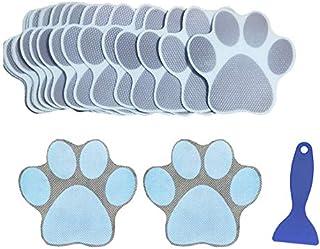 N/X 20 Pieces Non-Slip Bathtub Stickers Shower Mat Anti-Slip Appliques Adhesive Paw Print Bath Safety Treads, with Premium...