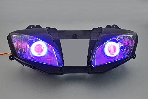 Gowe ABS Projektor Lampen Scheinwerfer blau Angel Eye + Red Devil Eye für Yamaha YZF R606–0720062007[dd09-br]