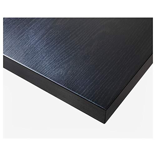 IKEA LINNMON - Tablero de mesa (75 x 150 cm), color marrón y negro