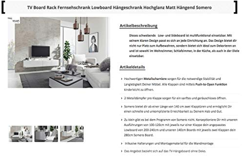 Wohnwand – Low- und Sideboard in weiß Bild 3*