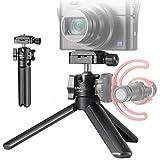 UURig U-Pod VLOG Trípode de mano monopié para Sony RX100 VII Canon G7X Mark III Cámaras DSLR de viaje Vlog accesorio con micrófono de zapata fría/extensión de luz