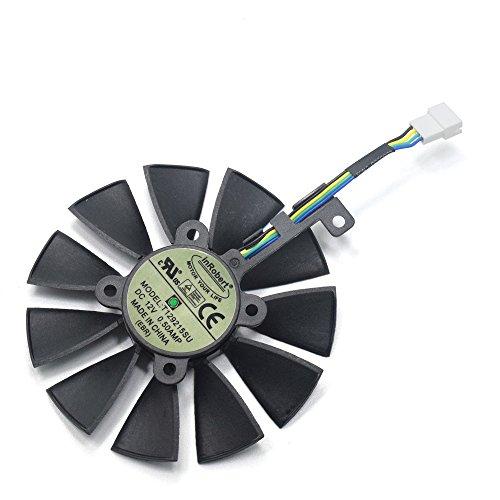 inRobert T129215SU Grafikkarte Kühler Ersatz für ASUS STRIX GTX980Ti/R9390/RX480/RX580 Grafikkarte (Fan-C)