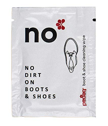 Pedag Wipes No Kit - Cleans and Shines Shoes and Boots When Travel - Set of 10