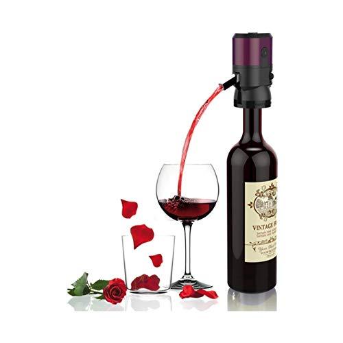 Decanter per vino in vetro fatto a mano, Aeratore di vino, Decantatore di vino elettrico, One Touch Electric Wine Verser, Rosso-Accessori per vino, Bocca del vino Pourtore, Regali del vino per Gli ama