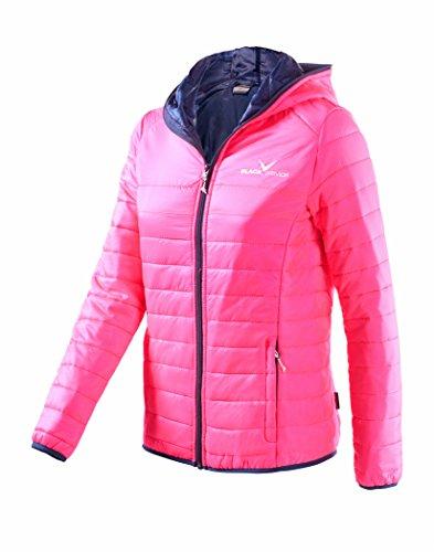 Black Crevice Damen Steppjacke Daunenoptik, pink, 40