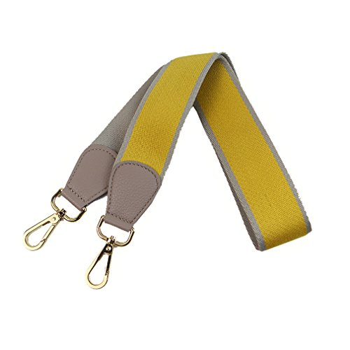 Umily - Tracolla da donna, 103 cm, ampia tracolla / tracolla a tracolla, multicolore, per borsa a tracolla e borsa, giallo. (Giallo) - .