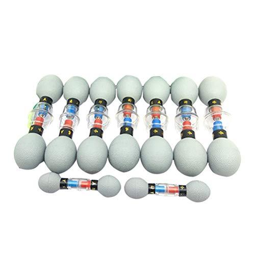 Healifty Schröpfen Set Magnet Saugnapf Chinesische Schröpfglas mit Vakuumpumpe Vakkummassage Akupunktur Set 18 Stück