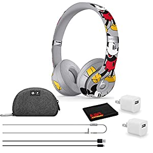 Beats by Dr. Dre Solo3 Wireless Bluetooth Headphones – Mickey's 90th Anniversary Edition – Kit with USB Adapter Cube