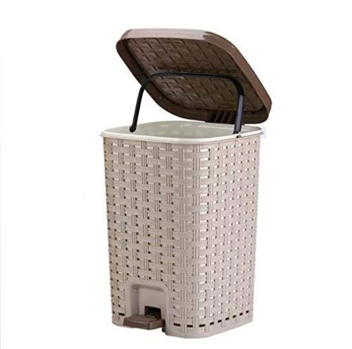 Toho Cubo de Basura Pequeño/Papelera de Cocina, Bote de Basura de Plástico Papelera para Basura en el Hogar u Oficina, Papelera de Oficina A/A / 5.5L