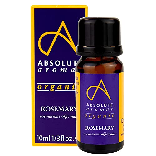 Absolute Aromas Organic Rosemary Essential Oil 10ml - 100% Pure, Natural and...