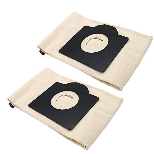 SDFIOSDOI Piezas de aspiradora 1 unid / 2pc Bolsas de Polvo Lavables en Forma para Karcher WD3 MV3 SE4001 A2299 K2201 F K2150 Cleadera de vacío Piezas de Repuesto Bolsa de Polvo (Color : 2PCS)