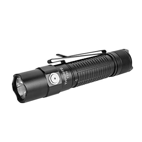 ThruNite TT20 Tactical Flashlight, 2526 High Lumens USB C Rechargeable Flashlight with Dual-Switch (Black- Cool White)
