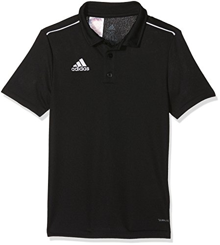 adidas CORE18 Camiseta Polo, Unisex niños, Black/White, 1516