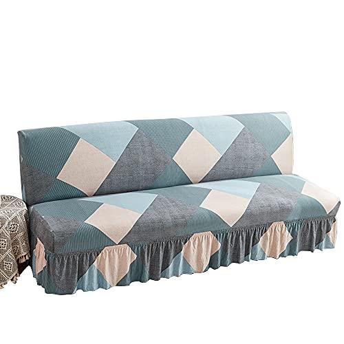 CHNSHOME Copridivano Senza braccioli Elasticizzato copridivano futon copridivano Letto Pieghevole Senza braccioli Fodera per Divano